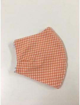 Mascarillas Higiénicas - Cuadros naranja