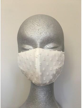 Mascarillas Higiénicas -Plumeti lazo blanco