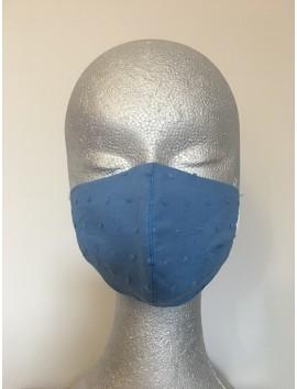 Mascarilla Higiénica Reutilizable -Plumeti azul