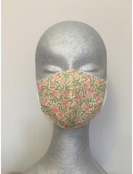 Mascarilla Higiénica Reutilizable -Florecitas rosas